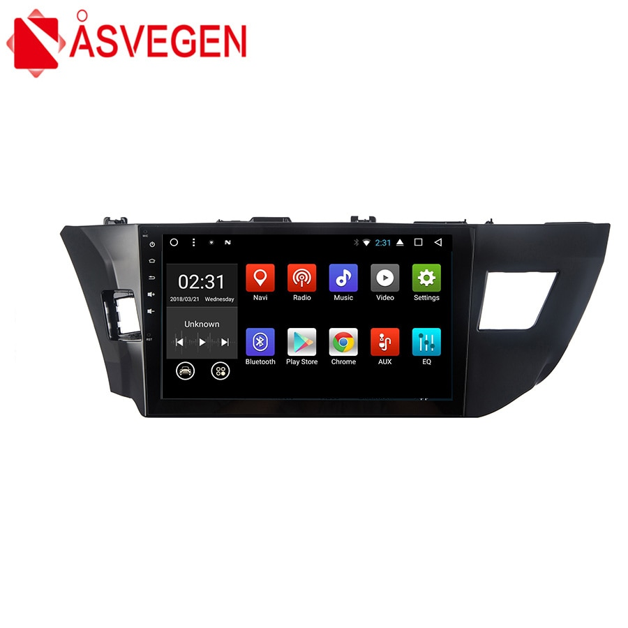 Reproductor de Dvd Asvegen Cord Core para coche, Unidad de cabezal de PC de coche, navegación GPS, reproductor Multimedia estéreo para coche 2 din para Toyota Levin 2014