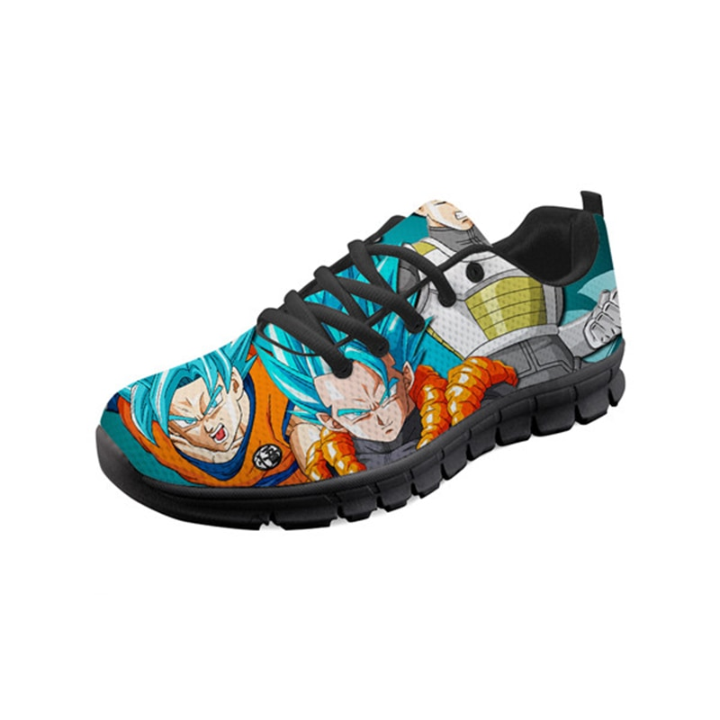 Zapatos De verano transpirables antiolor De THIKIN De Mujer, geniales zapatillas De deporte informales con diseño De Anime 3D Super Saiyan Goku para estudiantes y niñas