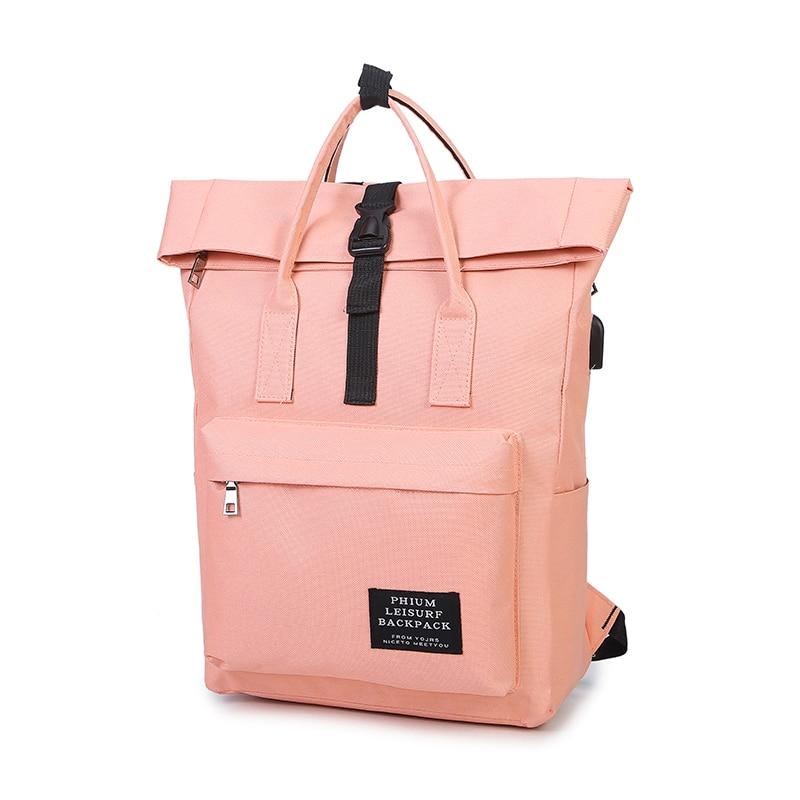 Новинка 2018, женский рюкзак для девочек, USB зарядка, нейлоновые рюкзаки, школьные сумки для подростков, девочек, mochila feminina, Студенческая сумка