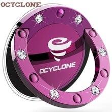 Violet poignée de luxe 360 degrés en métal Bling Bling coque en diamant doigt porte-anneau béquille Smartphone voiture Stand