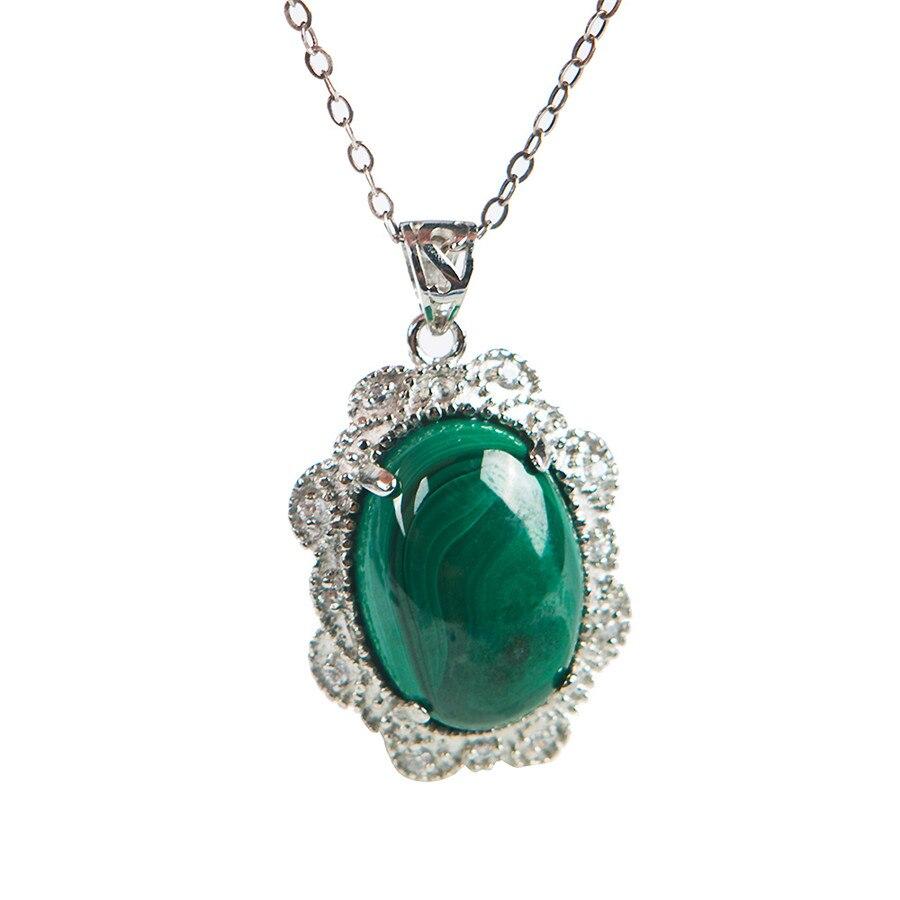 Verde auténtico, crisocola malaquita, piedra Natural, joyería para mujer, bonito colgante, 25x19x9mm