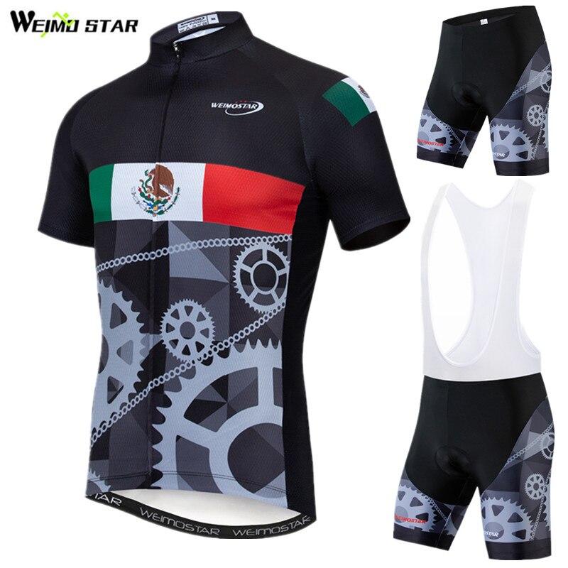 Weimostar, ropa de Ciclismo para equipo de bicicleta de EE. UU. De México, ropa de Ciclismo profesional para hombre, ropa de bicicleta de montaña de verano, Conjunto de Jersey de Ciclismo