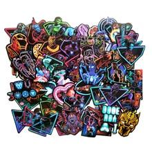 TD ZW 63 Pcs/lot Neon Marvel Super Hero Stickers For Car Laptop Luggage Phone Helmet Skateboard Motor PVC Decor Sticker