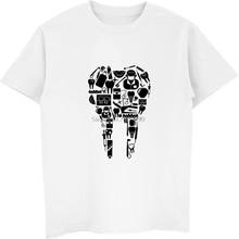 Lustige Zahn Zähne Zahnarzt Drucken T-shirt Sommer Männer Baumwolle Kurzarm T Hemd Casual Männlichen Hip Hop Tees Tops Harajuku streetwear
