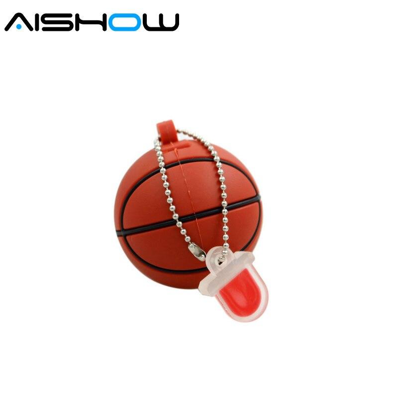 100% unidad flash de 16G de Capacidad real, unidad flash usb de 64gb para Baloncesto de dibujos animados, memoria USB 2,0
