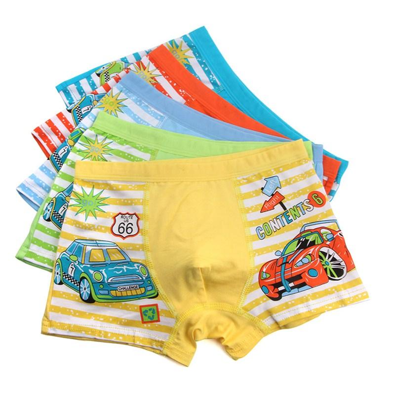 3Pc/lot Boys Cute Cartoon Boxer Underwear Childrens Pure Cotton Underpant Boxers boy cute panties