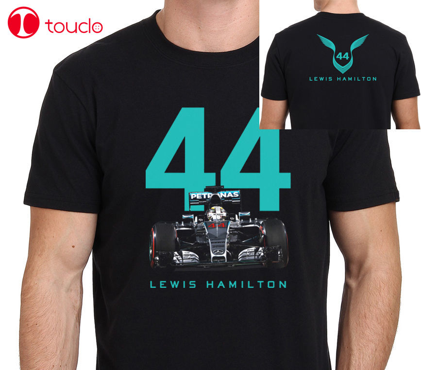 2 lados 2019 Venta caliente Lewis Triple Mundo número 44 camiseta suéter