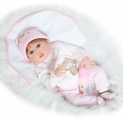 New 23 Inch/57cm Full Silicone Body Reborn Baby Dolls Baby-reborn Children Bebe Toys Bonecas Juguetes Brinquedos