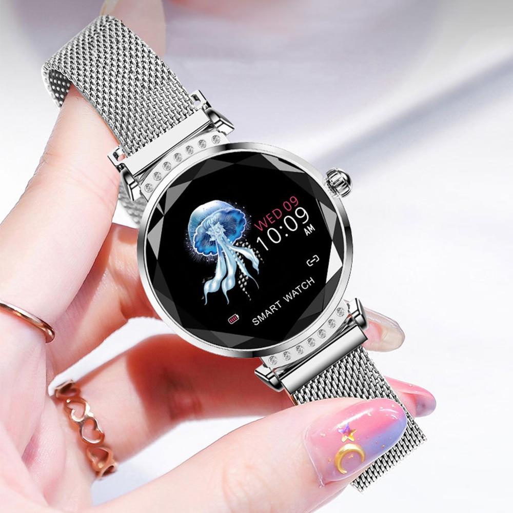 Reloj inteligente H2, relojes deportivos impermeables para mujer, pulsera de Fitness para monitorizar el ritmo cardíaco, regalo para mujer