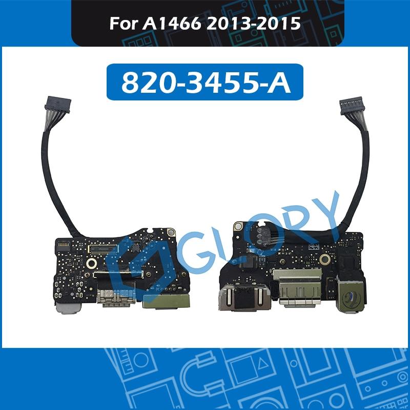 "Original 820-3455-A para MacBook Air 13 ""A1466/O de Audio USB DC-IN Power Jack Board 2013-2015 MD760 MJVE2"