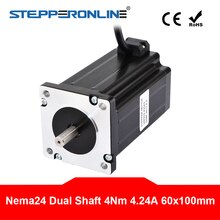 Dual Welle Nema 24 Schrittmotor 4.2A 4Nm (566 unzen. in) 60x60x 100mm 4-blei 8mm Welle für CNC Drehmaschine Router