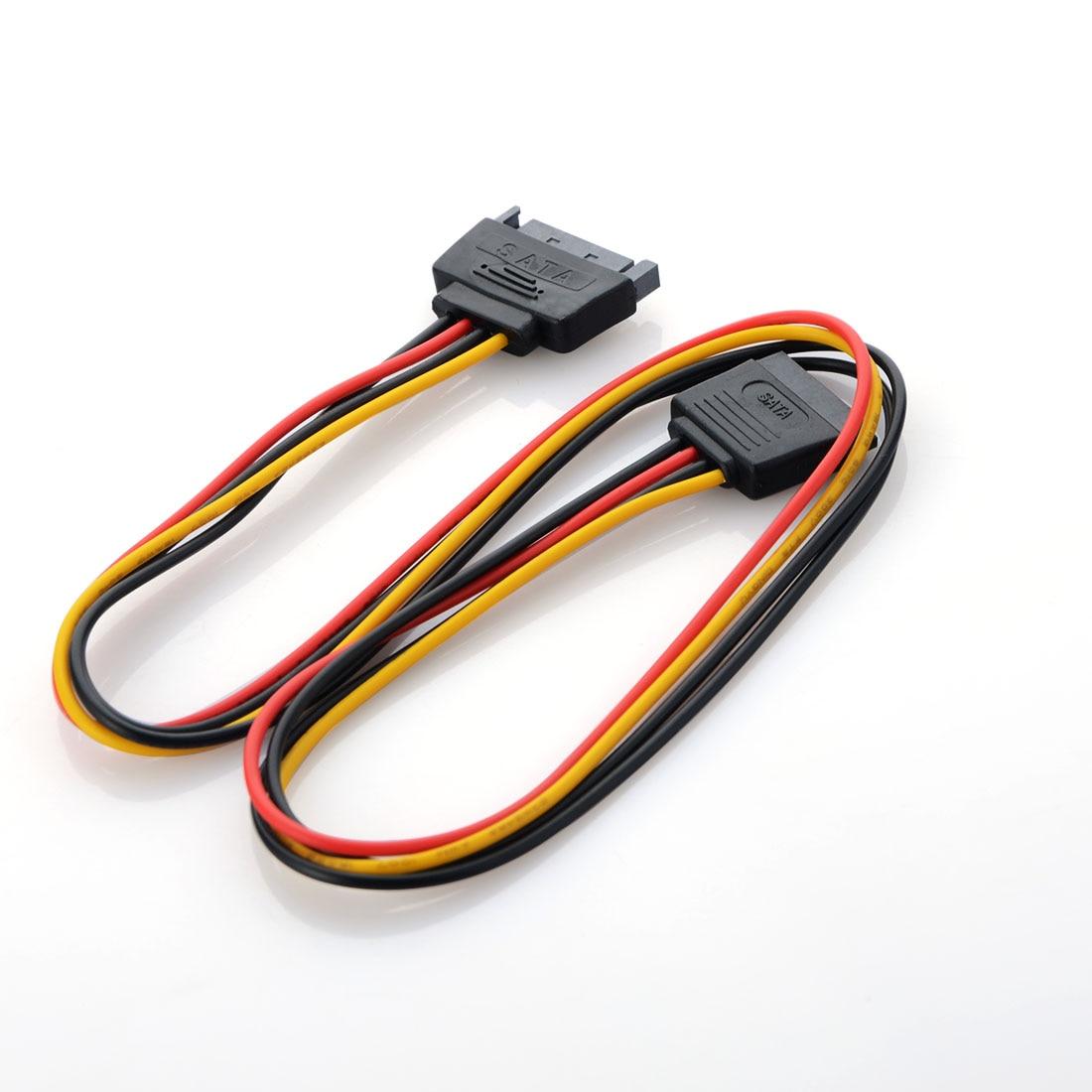 50 см Новый адаптер питания кабель 15 Pin SATA папа к двойному Molex 4 Pin IDE HDD Female