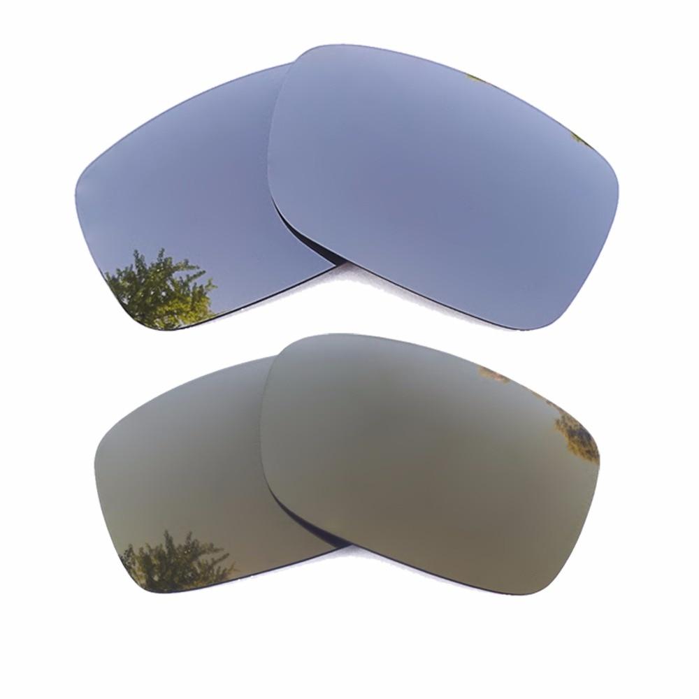 Silver Mirrored & Bronze Gold Mirrored Polarized Replacement Lenses for Crankshaft Frame 100% UVA &