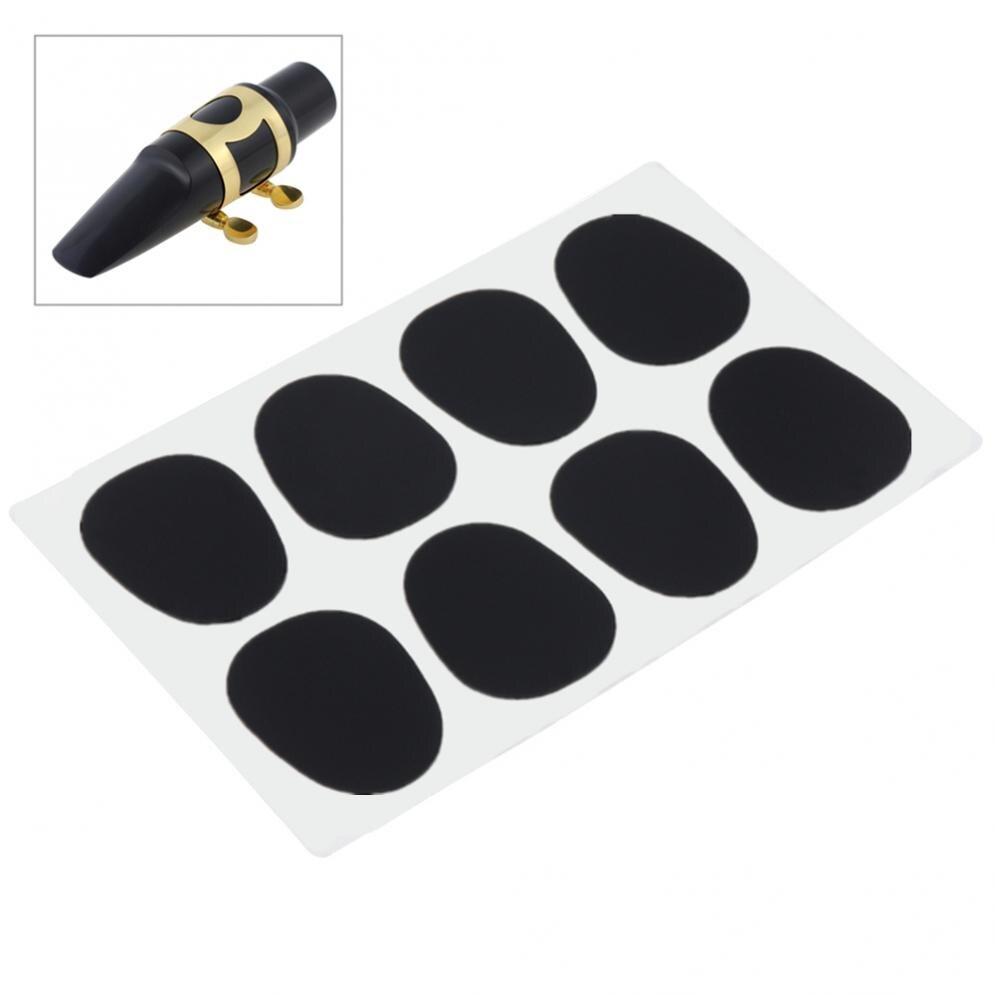 8 unids/lote de almohadillas para la boquilla de saxofón de Tenor Alto de 0,5mm de silicona negra, accesorios para saxofón