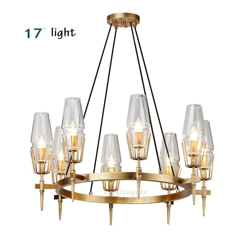 Colgante de cristal moderno luz nórdica Comedor Cocina luz diseñador colgante lámparas de vidrio