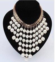 Perles de mode or collier ras du cou collier pour les femmes nouveaux accessoires de mariage simulé perle colliers déclaration bijoux