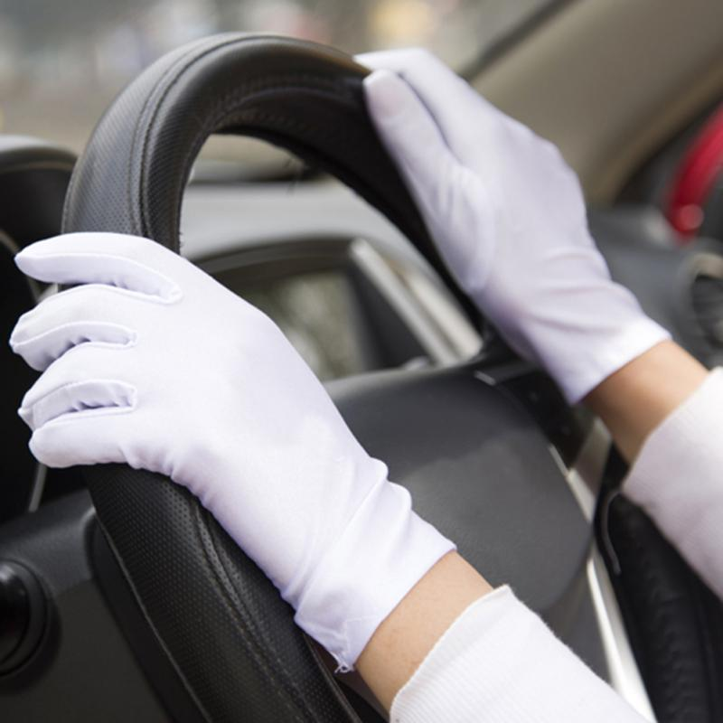 1 par de guantes de conducir verano para mujer, guantes de conducir Verano de LICRA finos superelásticos, protectores solares sólidos, guantes para conducir deportes al aire libre
