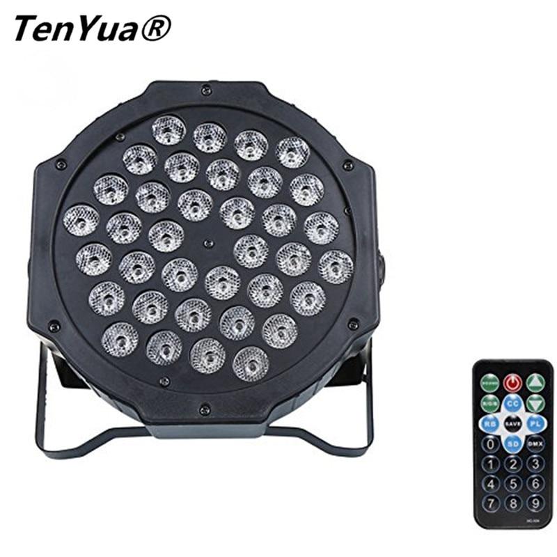 36 W 36 LED Luz de Palco RGB Light Par DMX512 LEVOU Controlador de Equipamento De DJ plana Discotecas KTV Música Luz com Controle Remoto controle