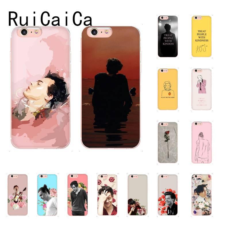 Ruicaica harry estilos moda popular estética capa de telefone macio para iphonex xsmax 6 6s 7 mais 8 8plus 5 5S xr11 11pro 11promax
