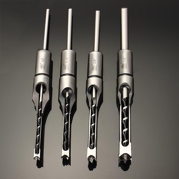 FixmeeNew/6,35/7,94/9,5/12,7mm de madera juego de cinceles para mortajar Plaza taladro para agujeros poco 1/2 '3/8' 5/16 '1/4' de alta dureza HSS