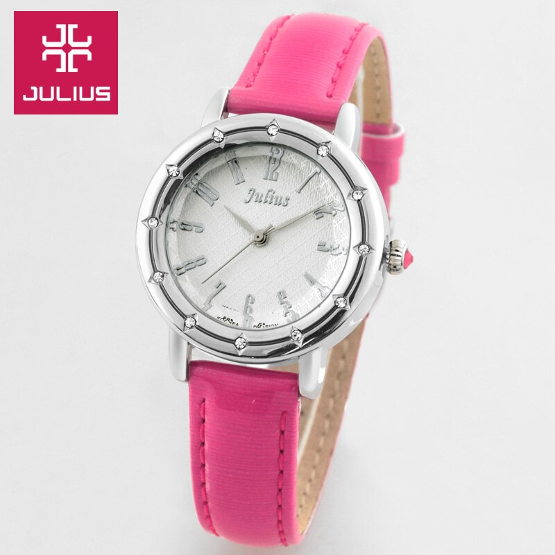 Julius Women's Watch Japan Quartz Lady Hours Fine Fashion Clock Bracelet Brand Arabic Multi-color Leather Girl's Gift  702