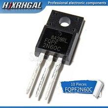 10pcs FQPF2N60C TO-220F 2N60C 2N60 TO220F