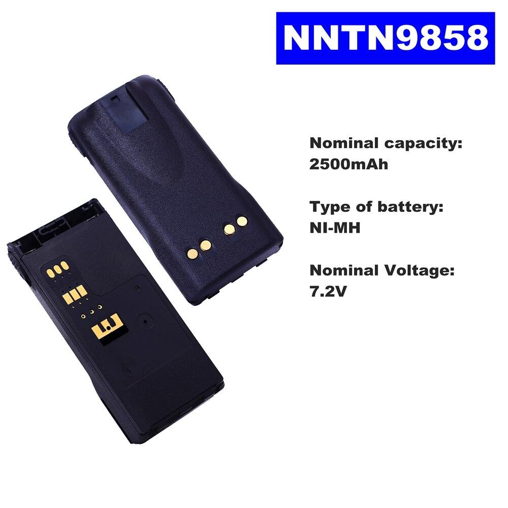 7.2V 2500mAh NI-MH Radio Battery NNTN9858 For Motorola Walkie Talkie XTS2500/1500 PR1500 Two Way Radio недорого