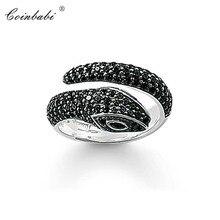 Anneaux serpent 925 en argent Sterling cadeau à la mode pour les femmes, Thomas Style coeur rebelle éternité anneaux TS bijoux de mode en gros