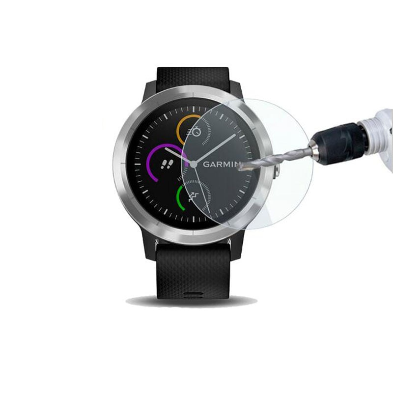 Vidro temperado película protetora guarda para garmin vivoactive 3 relógio inteligente vivoactive3 elemento/3 t treinador protetor de tela capa