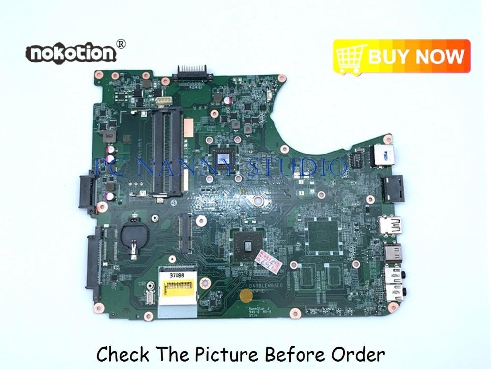 Pananny da0blemb6e0 para toshiba satellite l750 l755 a000081320 portátil placa-mãe ddr3 testado