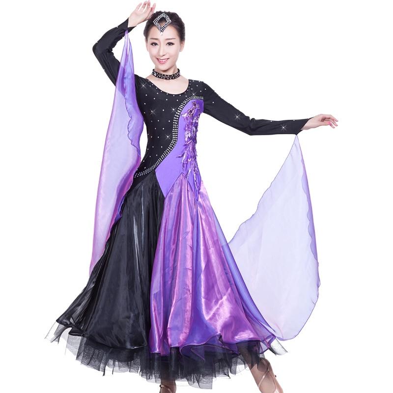 Vestido de baile de competición de salón para mujer, traje de baile de Tango, Flamenco, vals para adultos, vestidos de baile de Tango, uniforme de danza B-6205