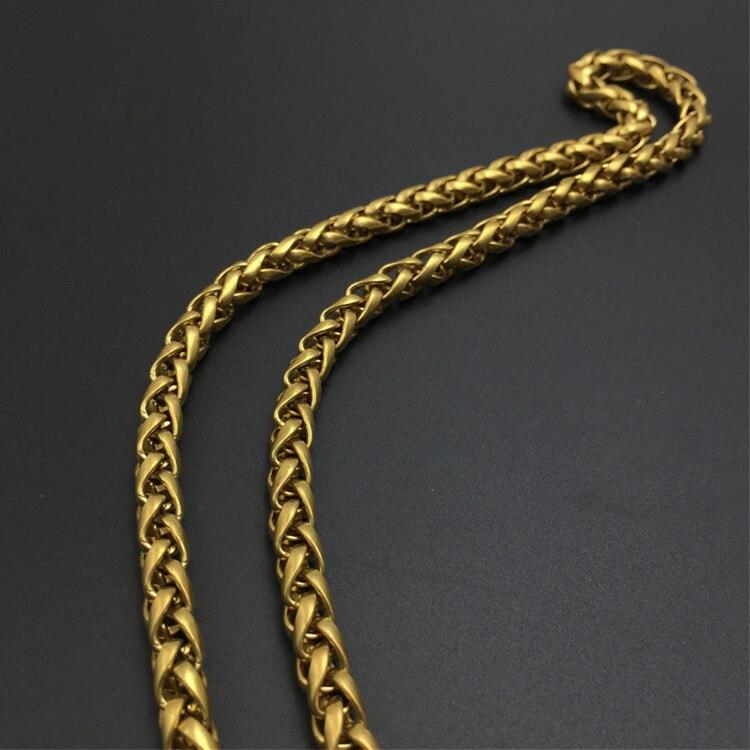 Solid brass wallet chain Key Chain Metal Punk Waist buckle hook Brass Ring Chain Metal Punk Waist Chain belt Accessories