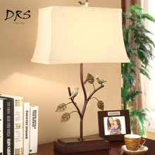 Lampe de Table de jardin américain chambre chevet lampe de bureau moderne salon Luminaria oiseau hôtel Decoracao Para Casa lampes de Table