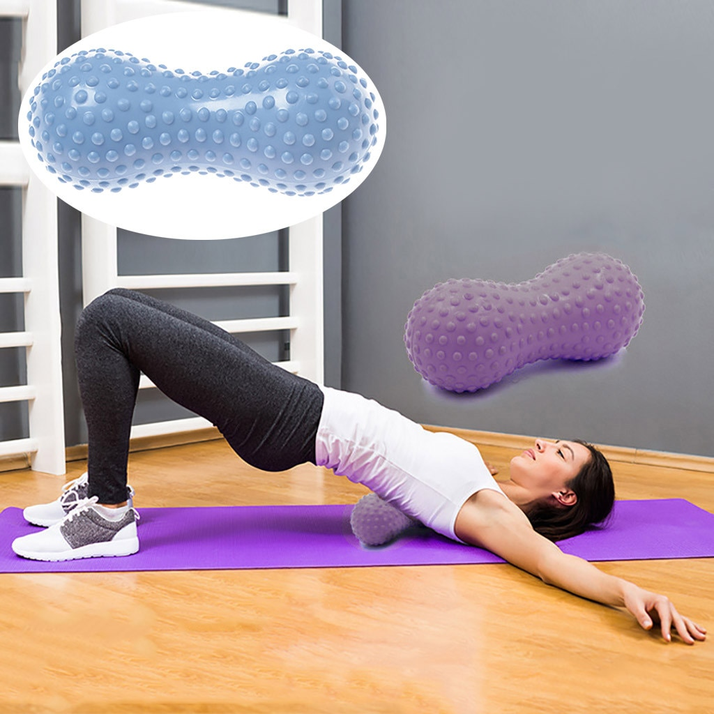 Yoga Block Pilates Foam Roller Multi-Purpose Peanut Shape Massage Roller Muscle Tissue for Fitness Gym Yoga Pilates Sports
