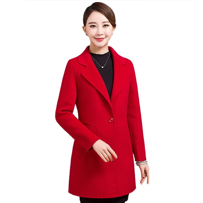 KMETRAM, abrigo De lana De Invierno, chaqueta De un solo botón para Mujer, abrigo ajustado para Mujer, Ropa De Mujer 2020, abrigos largos De Invierno para Mujer MY190