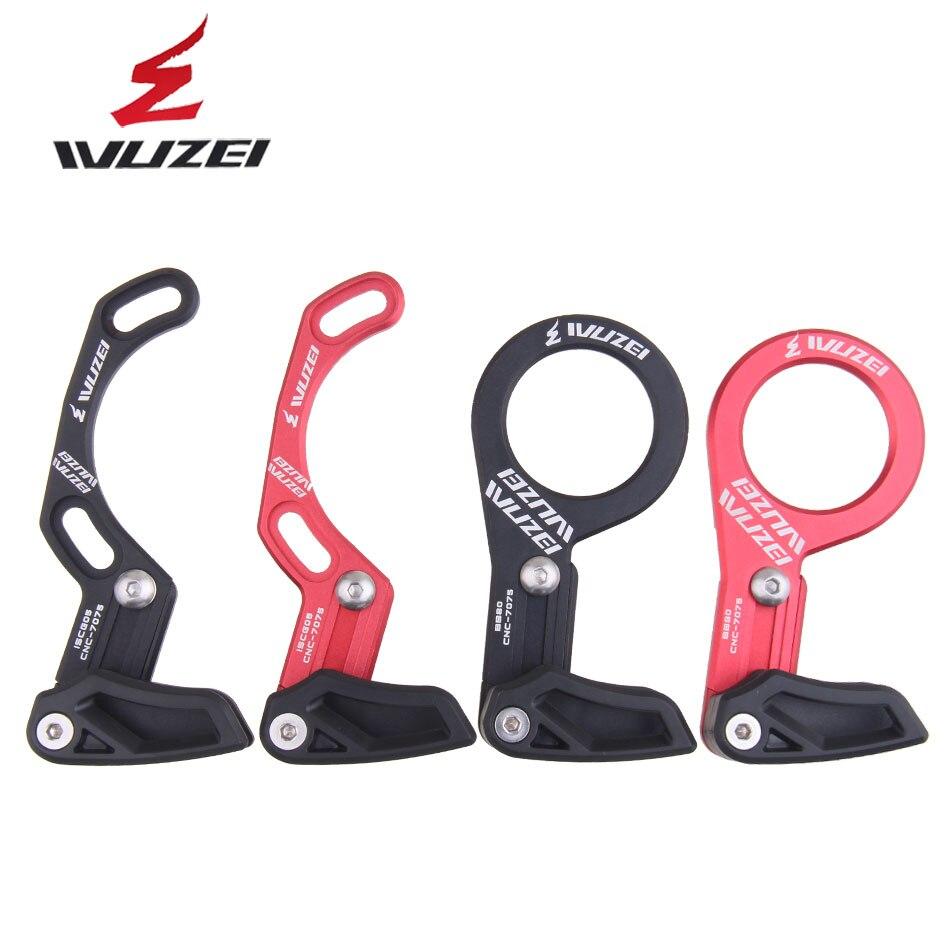 WUZEI אופני שרשרת מדריך MTB אופניים שרשרת מדריך 1X מערכת ISCG 05 BB 80 הר 7075 CNC אדום/שחור
