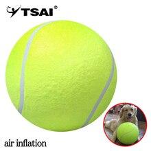 TSAI 24cm balle de Tennis géant Air gonflage balle de Tennis Sports de plein Air intérieur jouet Signature méga Jumbo enfants jouet balle