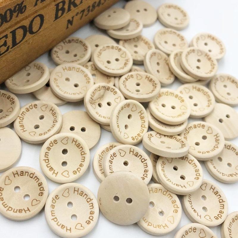 10/50/100 pcs 20mm Handmade love Buttons Scrapbooking Sewing Button WB399