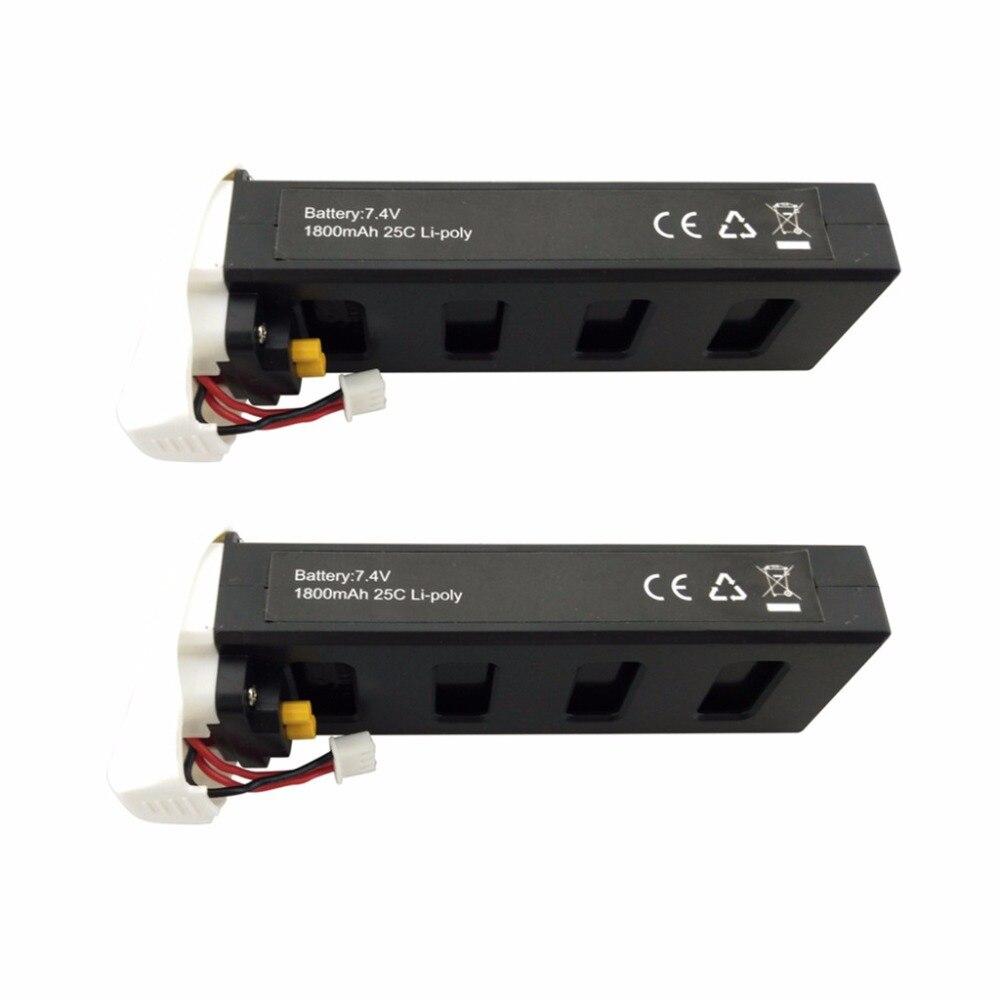 2 pcs 7.4 v 1800 mah bateria de lítio para mjx b2c b2w b2 bugs 2w bugs 2 d80 f18 f200se rc quadcopter peças de reposição zangão bateria branco