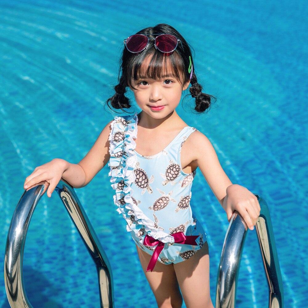 Ropa para niños, traje de baño para bebé 2019, traje de baño para niños, Bikini femenino para niñas, mono, Tortuga, Onihua 1027 Animal