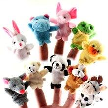 Brinquedos mão bonecas fantoches dedo bonito animal dos desenhos animados criança bebê flush crianças major 5pcs