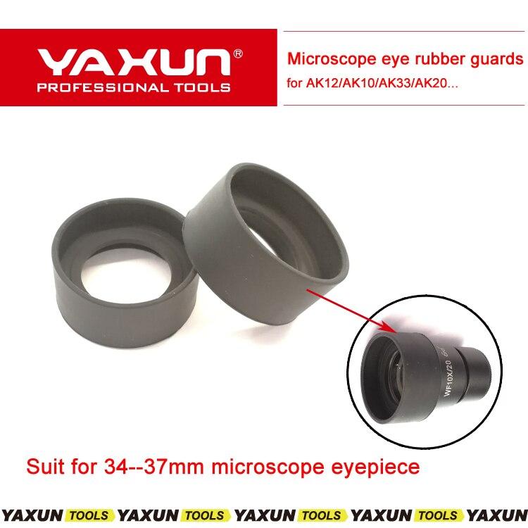 2 uds. 36 mm protector de objetivo ojo de goma protectores para los ojos para lentes de 34-37mm para microscopio YAXUN AK12 AK10 AK20
