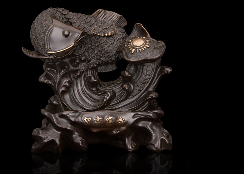 Arts Crafts Copper Chinese Retro imitation antiques bronze fish sculpture artwork statue top quality new year gifts fengshui pro