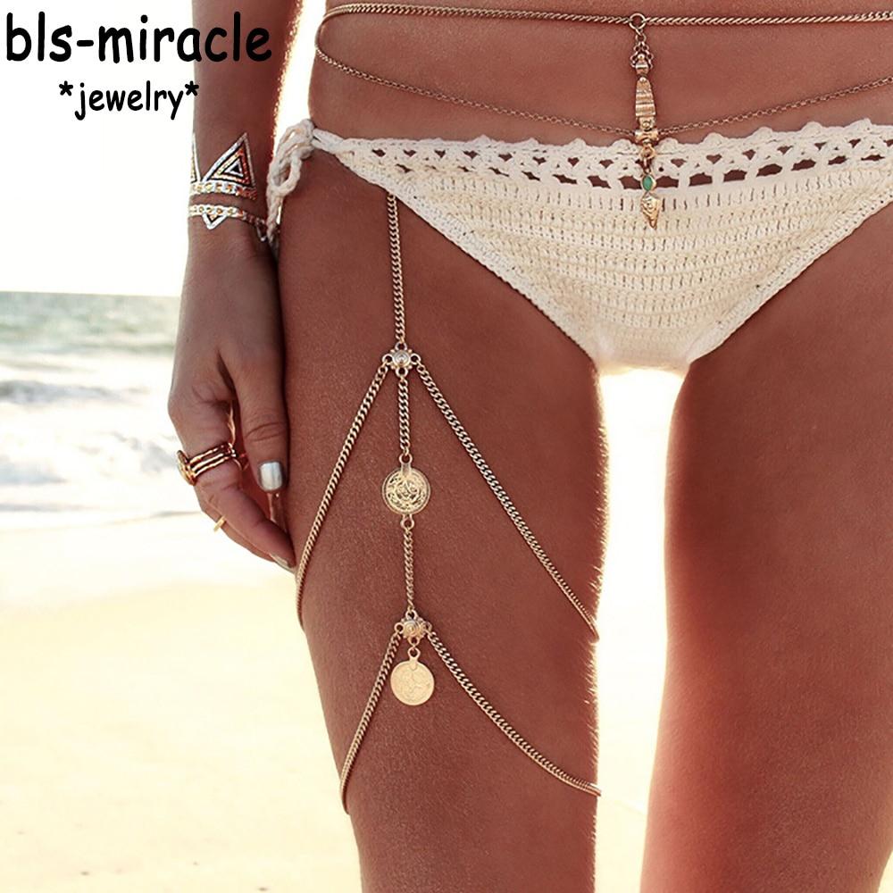 bls-чудо-пляж-Богемия-Новый-стиль-Модные-ювелирные-изделия-из-золота-Цвет-ног-браслет-цепочка-для-женщин-пикантные-заявление-цепи-аксессуары