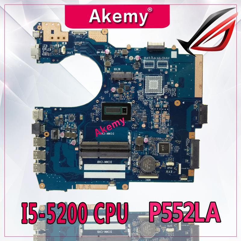 Akemy P552LA GM -I5-5200 cpu اللوحة ل For Asus P552 P552L P552LA P552LJ دفتر اللوحة الأم اللوحة