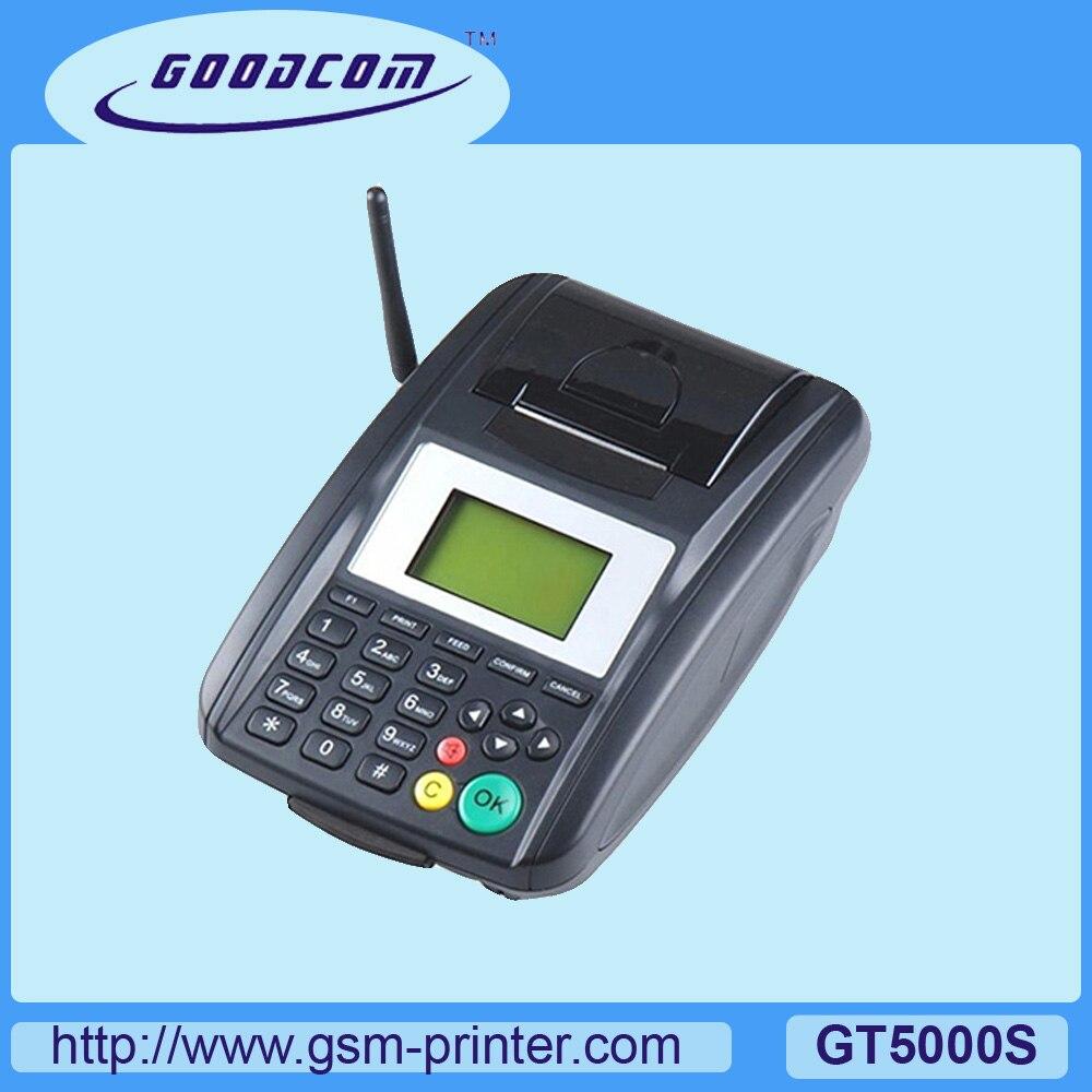 Terminal GSM GOODCOM con impresora térmica integrada compatible con SMS/GPRS/USSD para imprimir mensajes de pedido
