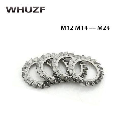 DIN6798A M12 M14 M16 M18 M20 M24 de acero inoxidable 304 arandelas externas dientes Junta lavadora arandela de bloqueo serrada HW051