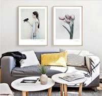 Affiche nordique de decoration de maison moderne  mode de la mer  ville  paysage  peinture sur toile sans cadre  2 panneaux  salon  images dart murales
