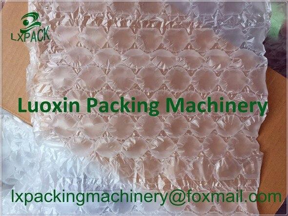 LX-PACK marca o mais baixo preço de fábrica saco de almofada de ar filme 200x100mm automático cor azul almofada de bolha de ar travesseiro que faz a máquina