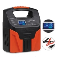 12v 24v car lead acid battery chargers auto motorcycle truck smart fast battery charger fully automatic lcd charge 7